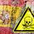 alten · geknackt · Wand · Gift · Warnzeichen · gemalt - stock foto © michaklootwijk