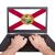 grunge · Florida · vlag · amerika · geïsoleerd · witte - stockfoto © michaklootwijk