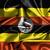 integet · zászló · Uganda · 3d · illusztráció · izolált · fehér - stock fotó © michaklootwijk