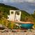 bateau · mer · plage · lumineuses · jaune · bleu - photo stock © michaklootwijk