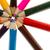 primo · piano · colorato · matite · cerchio · bianco · arte - foto d'archivio © michaklootwijk