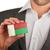 ビジネスマン · 名刺 · マダガスカル · フラグ · ワーカー - ストックフォト © michaklootwijk