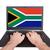 personas · bandera · Sudáfrica · aislado · blanco · reunión - foto stock © michaklootwijk