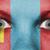 ogen · vlag · geschilderd · gezicht · Mongolië - stockfoto © michaklootwijk