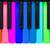 arco-íris · piano · preto · teclas · de · piano · diferente · cores - foto stock © michaklootwijk