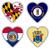 szeretet · Maryland · zászló · szív · összes · fehér - stock fotó © michaklootwijk