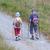toeristische · paar · wandelen · bos · zomer · meisje - stockfoto © michaklootwijk