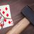 hammer with a broken card eight of diamonds stock photo © michaklootwijk