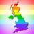 arco · iris · bandera · Reino · Unido · primer · plano · placa · sexo - foto stock © michaklootwijk