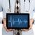 orvos · tart · tabletta · szívdobbanás · grafikon · izolált - stock fotó © michaklootwijk