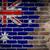 флаг · Австралия · кирпичная · стена · окрашенный · Гранж · текстуры - Сток-фото © michaklootwijk