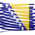 Bosnia · Herzegovina · bandera · fragmento · textura · pared - foto stock © michaklootwijk