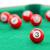 piros · snooker · golyók · izolált · fehér · asztal - stock fotó © michaklootwijk