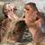 harcol · közelkép · vad · verekedés · kettő · víz - stock fotó © michaklootwijk