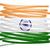 ícone · bandeira · Índia · emblema · isolado · branco - foto stock © michaklootwijk