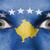 ogen · vlag · geschilderd · gezicht · Kosovo - stockfoto © michaklootwijk