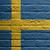 parede · de · tijolos · pintura · bandeira · Suécia · isolado · construção - foto stock © michaklootwijk