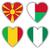 vlaggen · vorm · hart · verschillend · landen · land - stockfoto © michaklootwijk