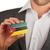ビジネスマン · 名刺 · モザンビーク · フラグ · ワーカー - ストックフォト © michaklootwijk