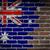 bayrak · Avustralya · tuğla · duvar · boyalı · grunge · doku - stok fotoğraf © michaklootwijk