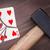 játszik · kártya · hat · szívek · izolált · fehér - stock fotó © michaklootwijk