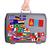 中古 · プラスチック · スーツケース · ステッカー · 小 - ストックフォト © michaklootwijk