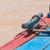 zeilboot · houten · mariene · touwen · traditioneel - stockfoto © michaklootwijk