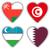vlaggen · vorm · hart · verschillend · landen · teken - stockfoto © michaklootwijk