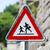 遅く · 歩行者 · にログイン · 黄色 · 道路 · 男 - ストックフォト © michaklootwijk