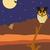 пустыне · ночь · луна - Сток-фото © MichalEyal