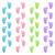 renkli · bebek · ayak · izleri · ayarlamak · parti · yeşil - stok fotoğraf © Mictoon