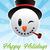 Snow Man Christmas Greeting Card stock photo © Mictoon