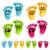mutlu · gülen · ayaklar · ayarlamak · eğlence · renkli - stok fotoğraf © Mictoon