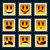 mosolyog · bélyegek · szett · jókedv · gyerekek · grafikus - stock fotó © Mictoon
