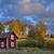 eski · ahşap · ev · İsveç · manzara · alan - stok fotoğraf © mikdam