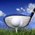 ゴルフボール · 日没 · 緑の草 · 空 · スポーツ · 風景 - ストックフォト © mikdam