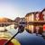 港 · 住宅 · 木製 · 町 · 水 · レストラン - ストックフォト © mikdam