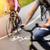 bicikli · sáv · üres · út · bicikli · biztonság - stock fotó © mikdam
