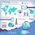 wereldwijde · business · infographics · geïllustreerd · ingesteld · communicatie · kaart - stockfoto © mike301