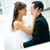 groom and bride embrace look against each other stock photo © mikhail_ulyannik
