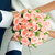 hand in hands with rose bouquet. Wedding couple stock photo © mikhail_ulyannik