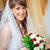 glimlachend · bruid · steeg · boeket · prachtig · jonge - stockfoto © mikhail_ulyannik