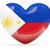 szív · zászló · Fülöp-szigetek · felső · szívek · izolált - stock fotó © mikhailmishchenko