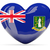 heart shaped icon with flag of british virgin islands stock photo © mikhailmishchenko