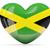 hart · vlag · Jamaica · grunge · 3d · illustration · reizen - stockfoto © mikhailmishchenko