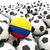 サッカー · サッカー · ボール · コロンビア · フラグ · 3D - ストックフォト © mikhailmishchenko