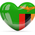 szív · zászló · Zambia · felső · szívek · izolált - stock fotó © mikhailmishchenko