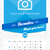 december 2016 wall monthly calendar for 2016 year vector design print template with place for phot stock photo © mikhailmorosin