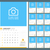 wall monthly calendar planner for 2016 year vector design print template with place for photo and n stock photo © mikhailmorosin