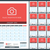 wall calendar planner for 2016 year vector design print template with place for photo week starts stock photo © mikhailmorosin